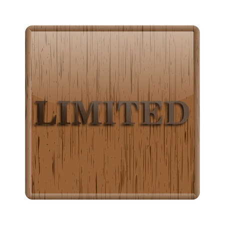 peel off: Shiny icon with brown design on wooden background Stock Photo