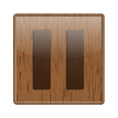 Shiny icon with brown design on wooden background Stock Photo - 20547643