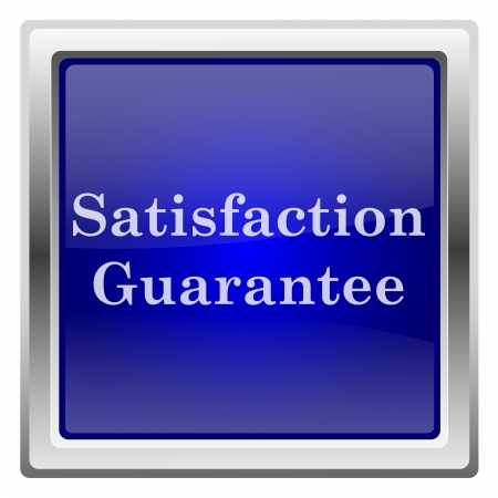 Metallic shiny icon with white design on blue background photo