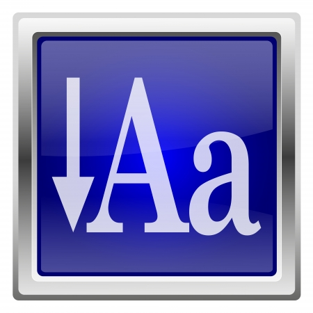 small size: Metallic shiny icon with white design on blue background