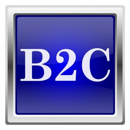Metallic shiny icon with white design on blue background Stock Photo - 20609352
