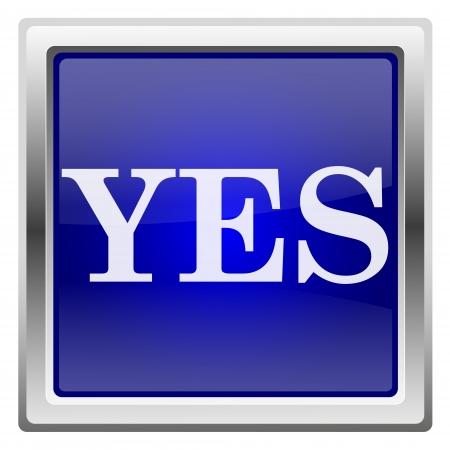 Metallic shiny icon with white design on blue background Stock Photo - 20636558