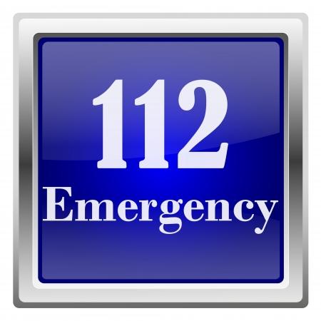 Metallic shiny icon with white design on blue background Stock Photo - 20628406