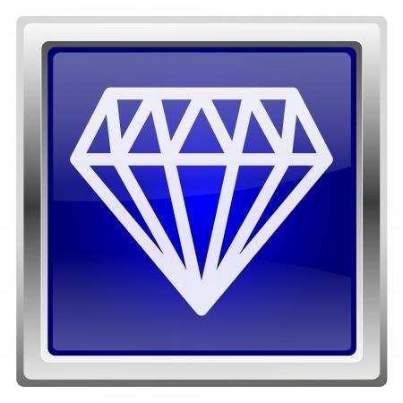unbreakable: Metallic shiny icon with white design on blue background