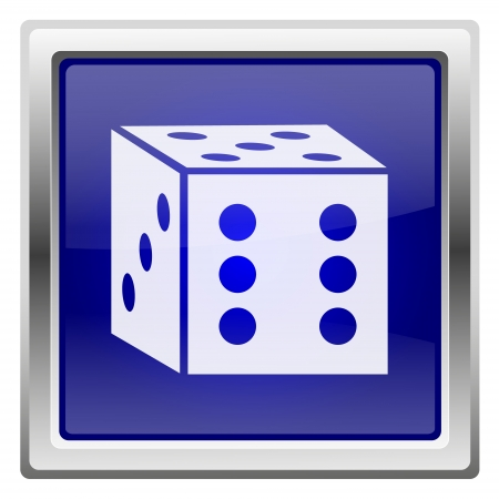 odds: Metallic shiny icon with white design on blue background