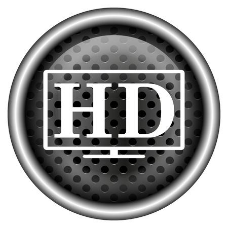 Glossy icon with white design on metallic background Stock Photo - 20700380