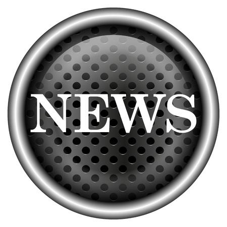 Glossy icon with white design on metallic background Stock Photo - 20726431