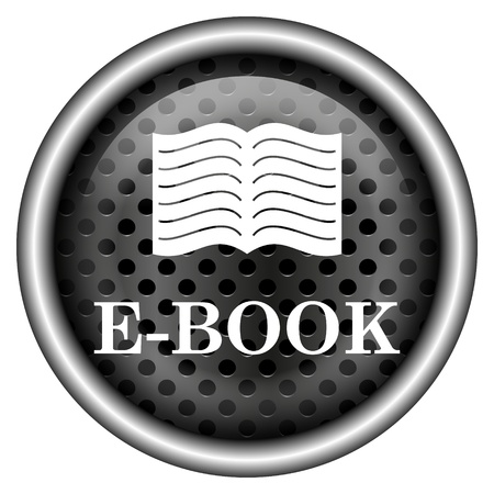 audiobook: Glossy icon with white design on metallic background