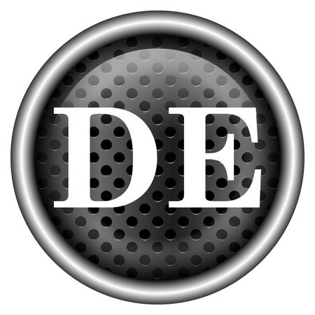 Glossy icon with white design on metallic background Stock Photo - 20727010
