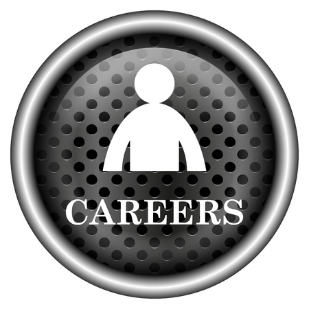 career entry: Glossy icon with white design on metallic background