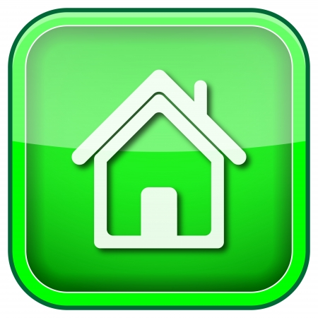 Square shiny icon with white design on green background Stock Photo - 21055820