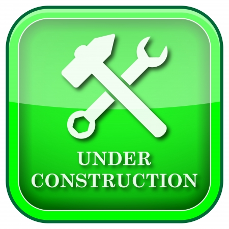 in the reconstruction: Square shiny icon with white design on green background