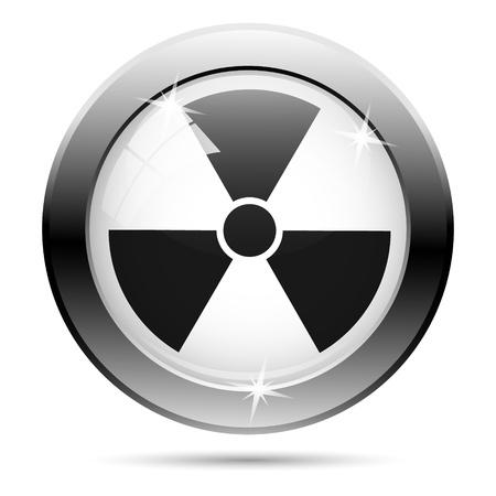 Metallic icon with black design on white glass background Stock Photo - 21096275
