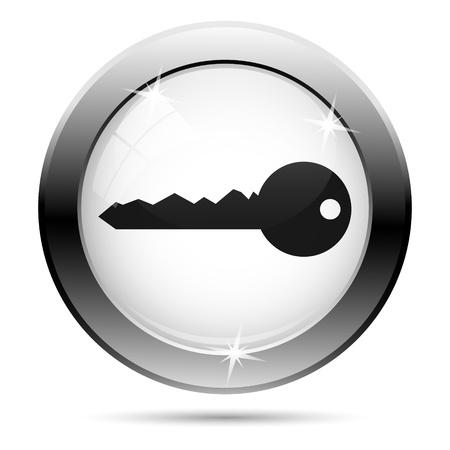 Metallic icon with black design on white glass background photo