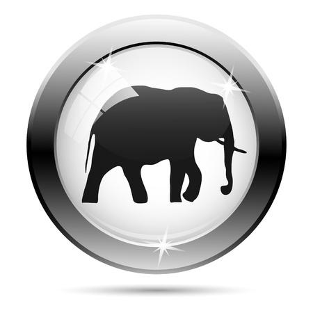endanger: Metallic icon with black design on white glass background Stock Photo
