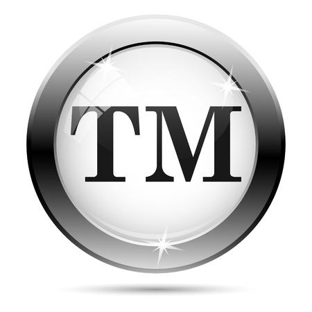 Metallic icon with black design on white glass background Stok Fotoğraf