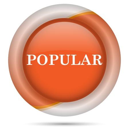 work popular: Glossy icon with white design on orange plastic background