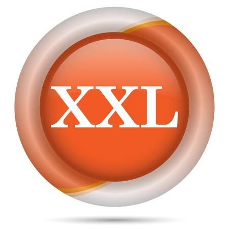 advisory: Glossy icon with white design on orange plastic background