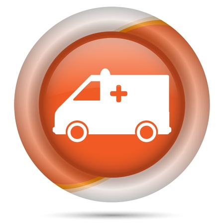 Glossy icon with white design on orange plastic background Stock Photo - 21300117
