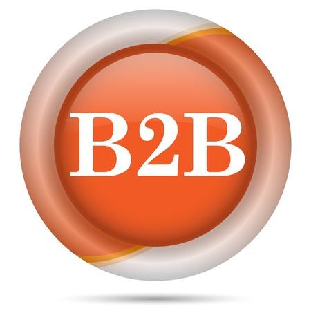 Glossy icon with white design on orange plastic background Stock Photo - 21300240