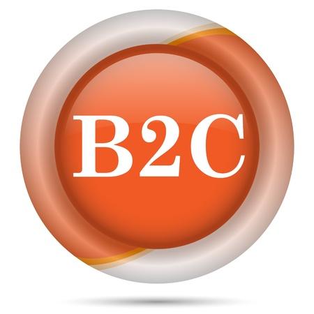 Glossy icon with white design on orange plastic background Stock Photo - 21300241