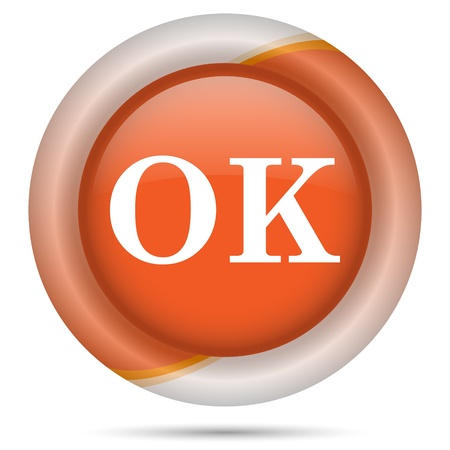 Glossy icon with white design on orange plastic background Stock Photo - 21300366