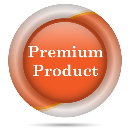 top class: Glossy icon with white design on orange plastic background
