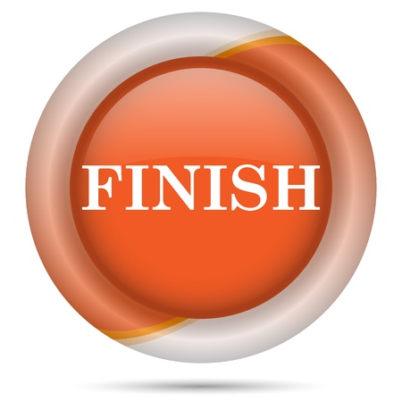 Glossy icon with white design on orange plastic background Stock Photo - 21300516