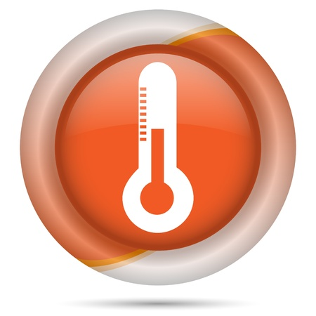 growth hot: Glossy icon with white design on orange plastic background