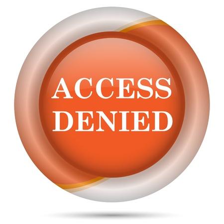 shut down: Glossy icon with white design on orange plastic background