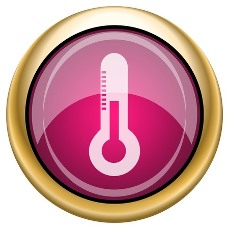 growth hot: Shiny glossy icon with white design on magenta and gold background