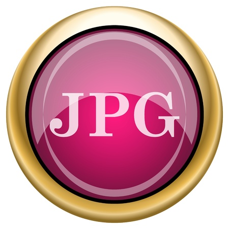 file type: Shiny glossy icon with white design on magenta and gold background
