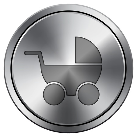 Metallic icon with carved design photo