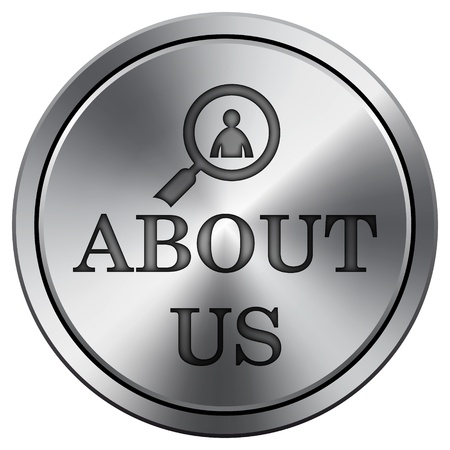 service sphere support web: Metallic icon with carved design Stock Photo