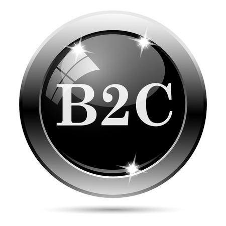 Metallic round glossy icon with white design on black background Stock Photo - 22124727