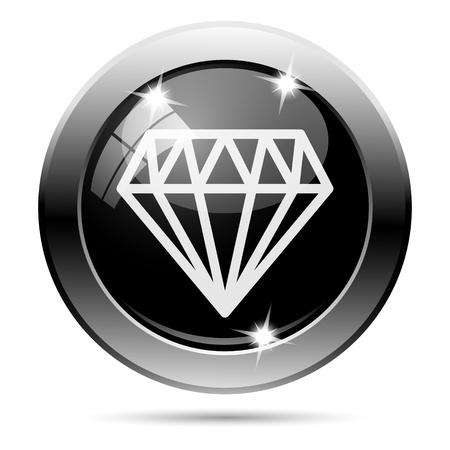 unbreakable: Metallic round glossy icon with white design on black background Stock Photo