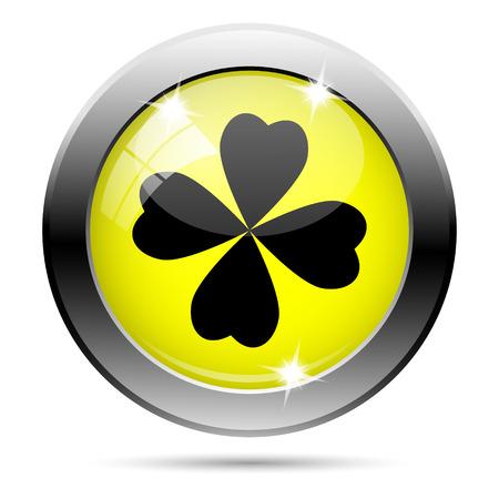 Metallic round glossy icon with black design on yellow background Stock Photo - 22287707