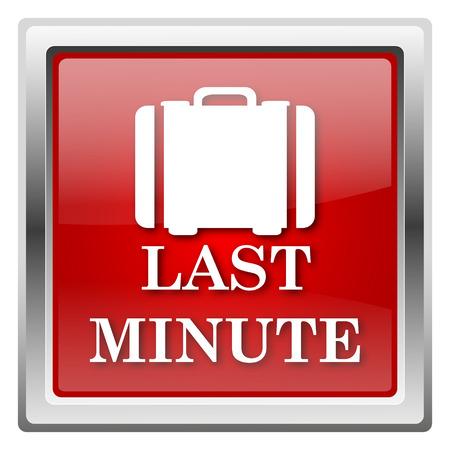 advantageous: Metallic icon with white design on red background Stock Photo