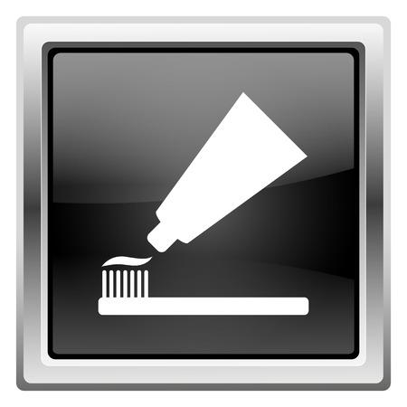 Metallic pictogram met wit ontwerp op zwarte achtergrond