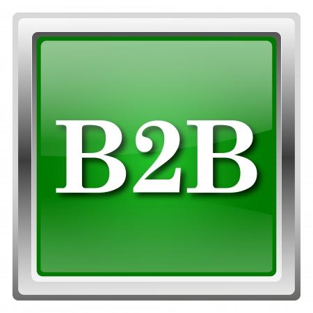 Metallic icon with white design on green background Stock Photo - 22558506