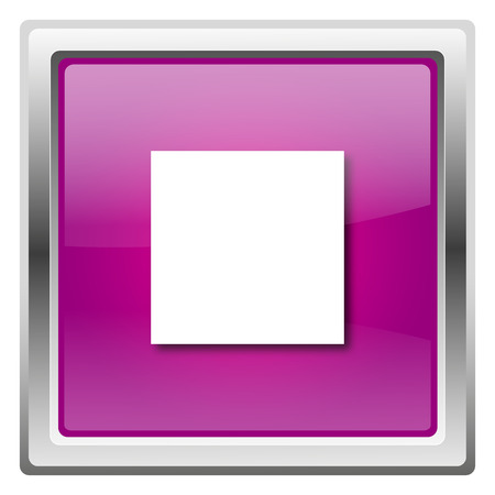 Metallic icon with white design on fuchsia background photo