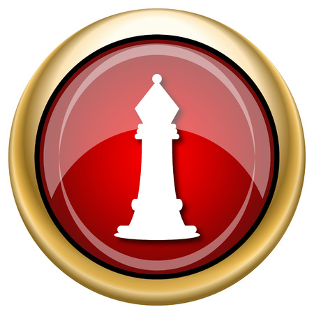 competitors: Shiny glossy icon with white design on red and gold background
