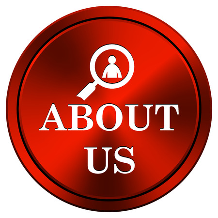 service sphere support web: Metallic icon with white design on red  background Stock Photo