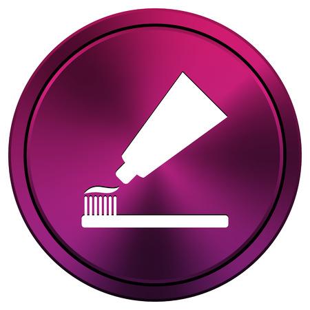 Metallic pictogram met wit ontwerp op paarse achtergrond