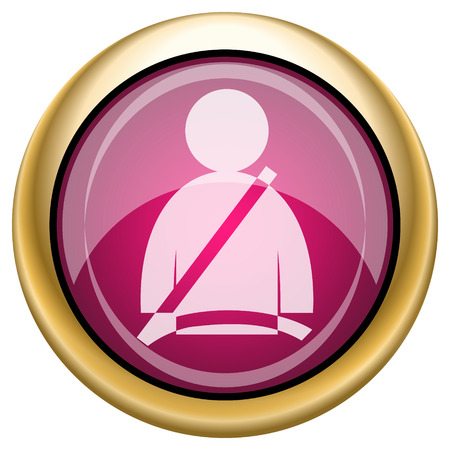 safety belt: Safety belt icon