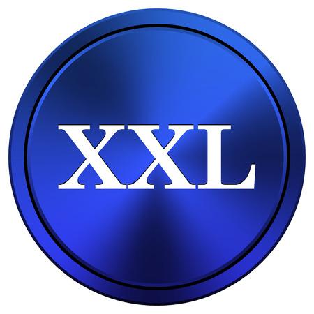 xxl icon: Metallic icon with white design on blue background