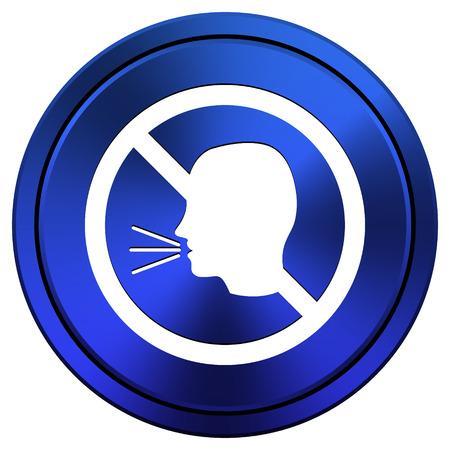 aloud: Metallic icon with white design on blue background