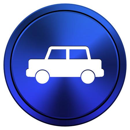 blue metallic background: Metallic icon with white design on blue background