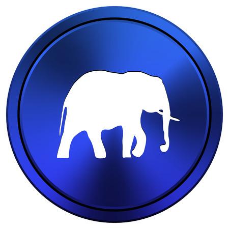 endanger: Metallic icon with white design on blue background