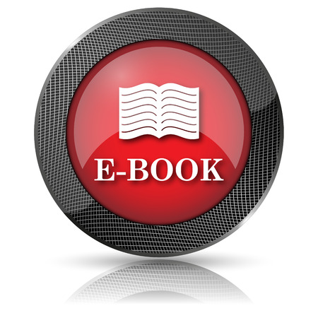 audiobook: Shiny glossy icon with white design on red background